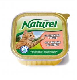 Lifepetcare gatto naturel cat al salmone con trota da 100 gr in vaschetta