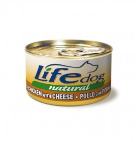 Lifepetcare cane life dog naturale pollo con formaggio da 90 gr in lattina