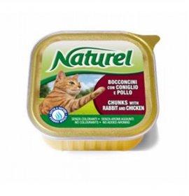 Lifepetcare gatto naturel cat bocconcini con coniglio e pollo da 100 gr in vaschetta