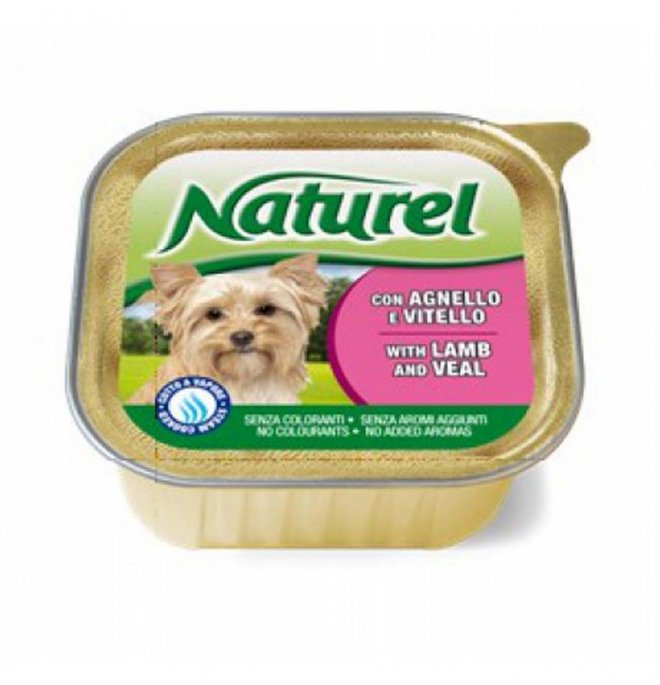 Lifepetcare cane naturel dog agnello e vitello da 150 gr in vaschetta