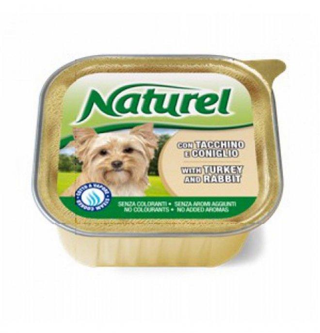 Lifepetcare cane naturel dog tacchino e coniglio da 150 gr in vaschetta