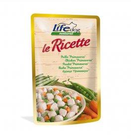 Lifepetcare cane life dog natural le ricette pollo primavera da 95 gr in busta
