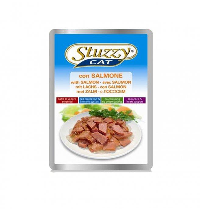 Agras stuzzy gatto jelly con salmone da 100 gr in busta