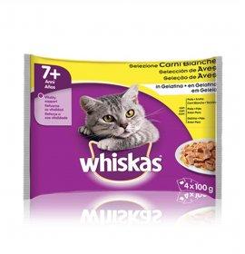 Whiskas gatto senior carni bianche 4 buste da 100 gr