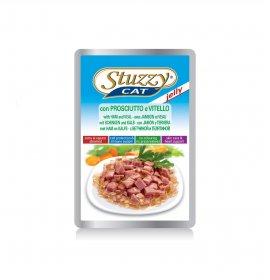 Agras stuzzy gatto jelly con prosciutto e vitello da 100 gr in busta