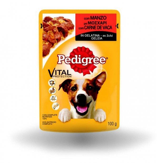 Pedigree cane vital protection manzo in gelatina da 100 gr in busta