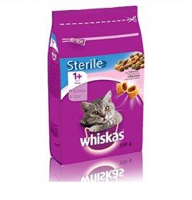 Whiskas gatto croccantini adult 1+ sterilizzato salmone 350 gr