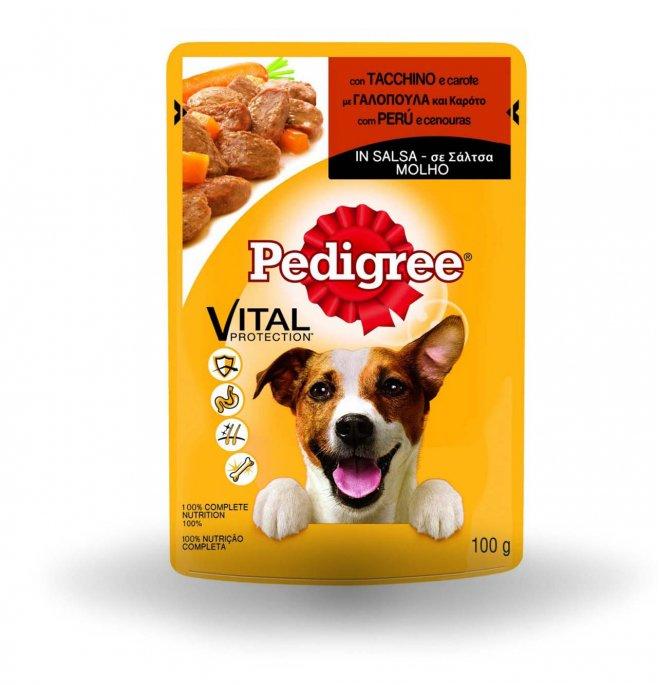 Pedigree cane vital protection tacchino e carote in salsa da 100 gr in busta