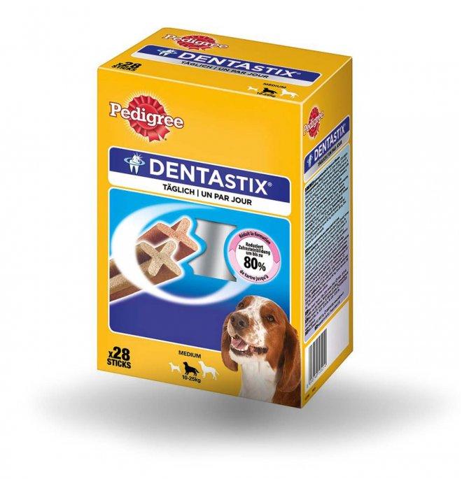 Pedigree cane snack dentastix medium multipack 21 + 7 pezzi in omaggio da 720 gr