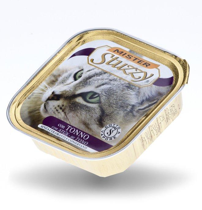Agras mister stuzzy gatto con tonno da 100 gr in vaschetta