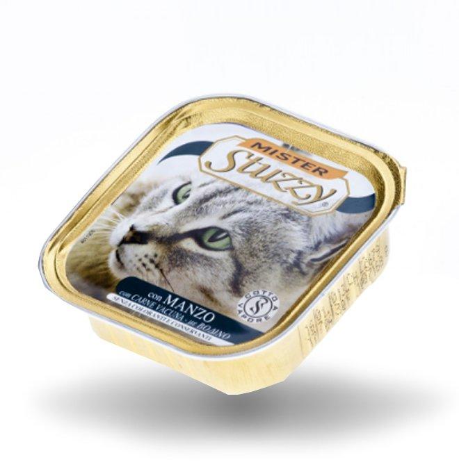 Agras mister stuzzy gatto con manzo da 100 gr in vaschetta