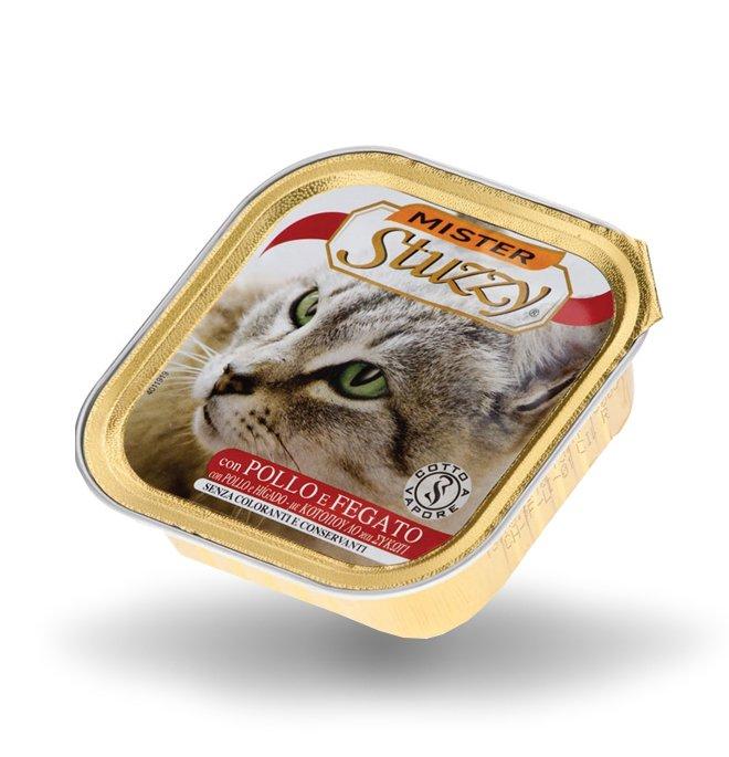 Agras mister stuzzy gatto con pollo e fegato da 100 gr in vaschetta