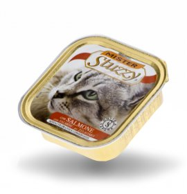 Agras mister stuzzy gatto con salmone da 100 gr in vaschetta