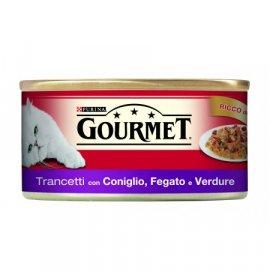 Purina gourmet gatto al coniglio fegato e verdure da 195 gr in lattina
