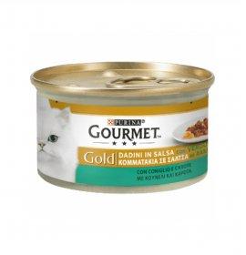 Purina gourmet gold gatto dadini al coniglio e carote da 85 gr in lattina