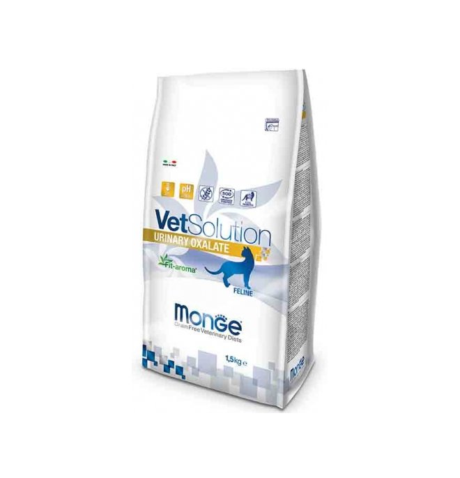 Monge vetsolution gatto grain free veterinary diet urinary oxalate da 1,5 kg