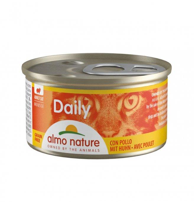 Almo nature gatto dailymenu mousse con pollo da 85 gr in lattina
