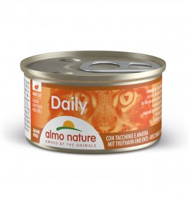 Almo nature gatto dailymenu dadini con tacchino e anatra da 85 gr in lattina