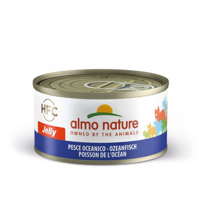 Almo nature gatto jelly con pesce oceanico da 70 gr in lattina