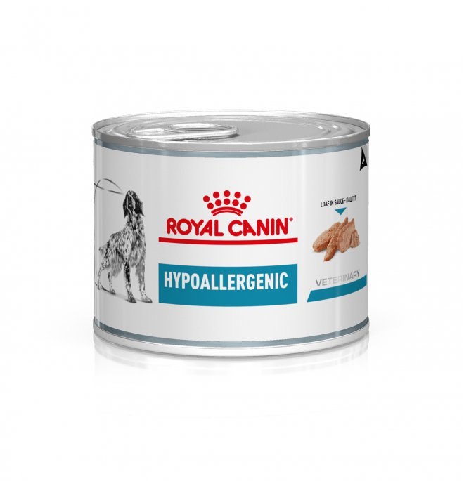 Royal canin cane diet hypoallergenic da 200 gr in lattina