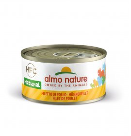 Almo nature gatto natural con filetto di pollo da 70 gr in lattina
