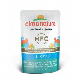 Almo nature gatto classic light con tonnetto orientale da 55 gr in busta