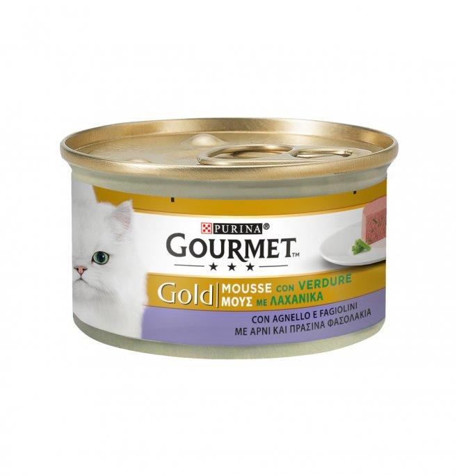 Purina gourmet gold gatto all' agnello e fagiolini da 85 gr in lattina