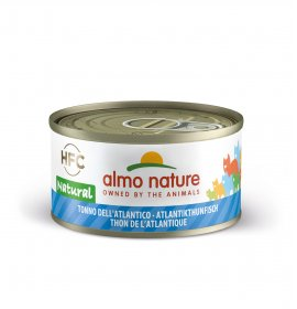 Almo nature gatto natural con tonno dell' atlantico da 70 gr in lattina