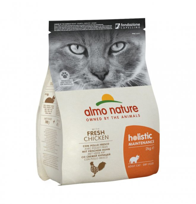 Almo nature gatto holistic adult con pollo e riso da 2 kg