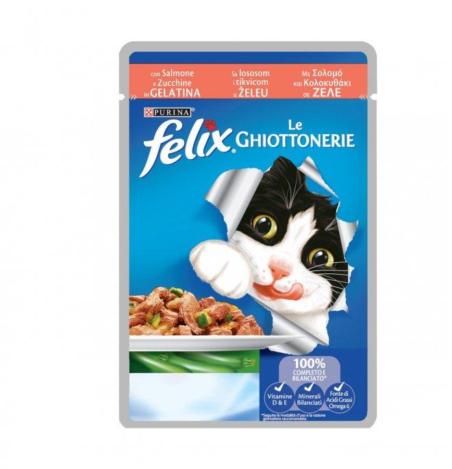 Purina felix agail gatto al salmone e zucchine da 100 gr in busta