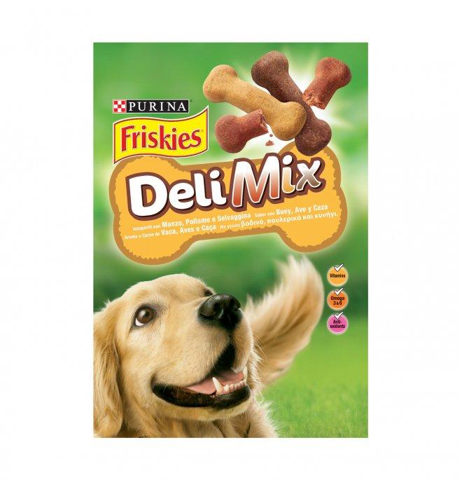 Purina friskies snack cane deli mix da 500 gr