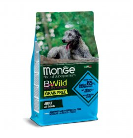 Monge bwild cane adult all breeds grain free all' acciughe con patate e piselli da 12 kg