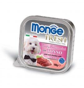 Monge cane fresh al tonno da 100 gr in vaschetta