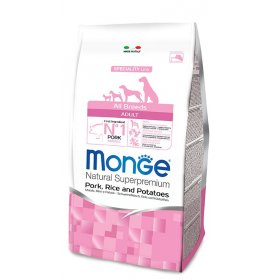 Monge superpremium cane adult all breeds maiale riso e patate da 12 kg
