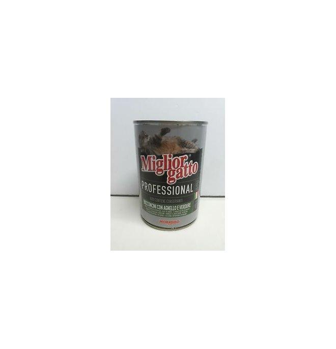 Morando miglior gatto professional bocconcini con agnello e verdure da 405 gr in lattina