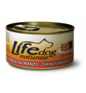 Lifepetcare cane life dog naturale ragu' di pollo con manzo da 170 gr in lattina
