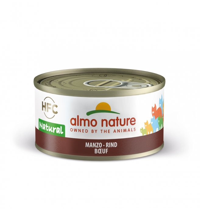 Almo nature gatto natural con manzo da 70 gr in lattina