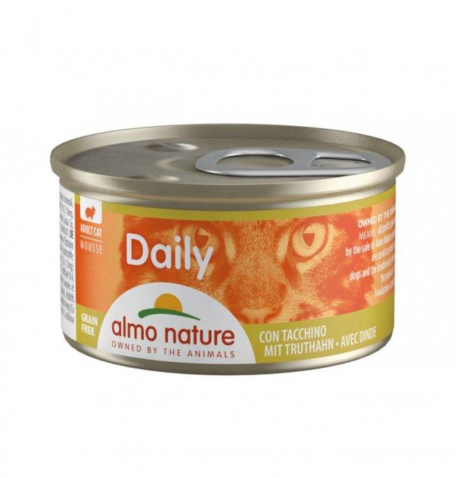 Almo nature gatto dailymenu mousse con tacchino da 85 gr in lattina