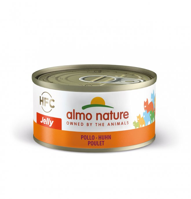 Almo nature gatto jelly con pollo da 70 gr in lattina