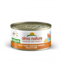 Almo nature gatto natural con pollo e tonno da 70 gr in lattina