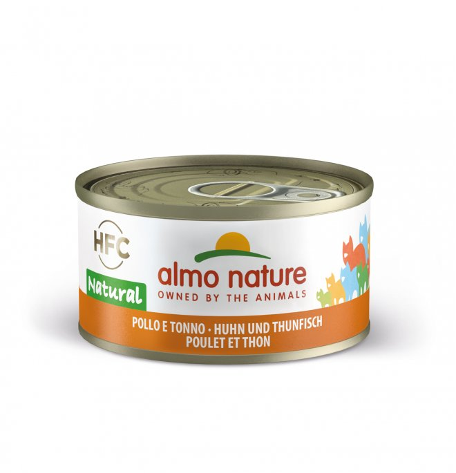 Almo nature gatto legend con pollo e tonno da 70 gr in lattina
