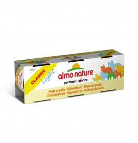 Almo nature gatto classic light con petto di pollo 3 lattine da 50 gr