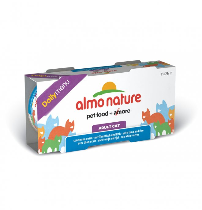 Almo nature gatto dailymenu con tonno e riso 2 lattine da 170 gr