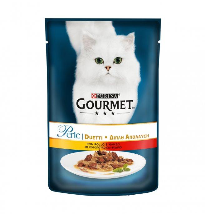 Purina gourmet perle gatto al pollo e manzo da 85 gr in busta