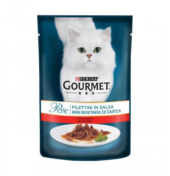 Purina gourmet perle gatto al manzo da 85 gr in busta