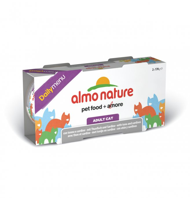 Almo nature gatto dailymenu con tonno e sardine 2 lattine da 170 gr