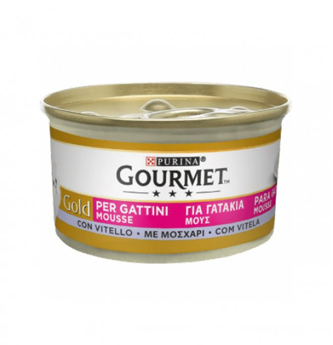 Purina gourmet gold gatto kitten al vitello da 85 gr in lattina