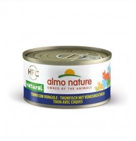 Almo nature gatto natural con tonno e vongole da 70 gr in lattina