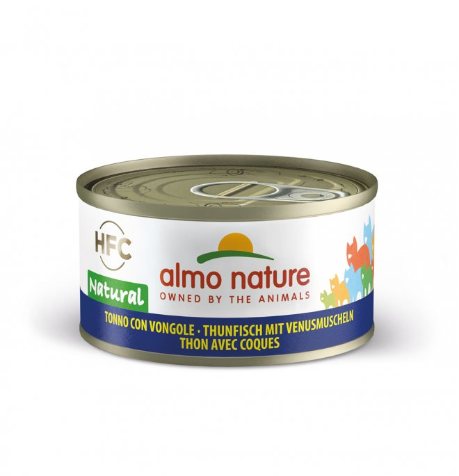 Almo nature gatto legend con tonno e vongole da 70 gr in lattina