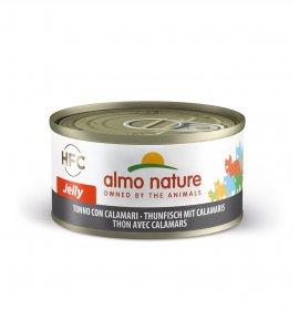 Almo nature gatto jelly con tonno e calamari da 70 gr in lattina